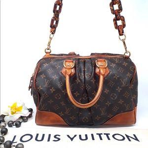 Auth Louis Vuitton Stephen Satchel Crossbody Bag
